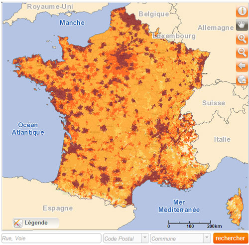 carte de france wifi orange