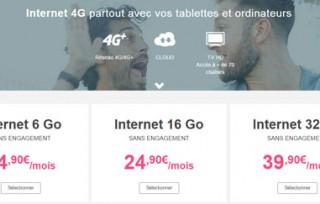 La clé 4G Bouygues à 1€ actuellement avec le forfait le moins cher du marché!