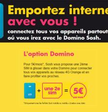 Domino Sosh: des forfaits compatibles clé 3G à partir de 19,99€!