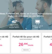La clé 4G Bouygues à 9,90€ en juillet avec le forfait le moins cher du marché