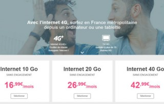 La clé 4G Bouygues à 9,99€ en mars avec le forfait le moins cher du marché